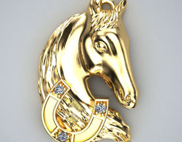horse pendant 3d print model