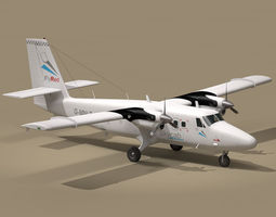 3d dhc6 twin otter