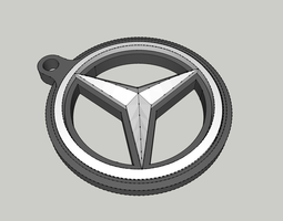 mercedes benz double-sided printable keyring