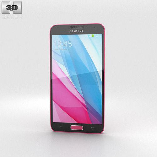samsung galaxy j pink 3d model max obj mtl 3ds fbx c4d lwo lw lws 1