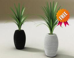 3d model plant pot hard serralunga