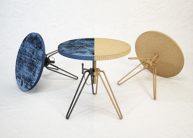 diesel coffee table by moroso 3d model max obj mtl fbx 1