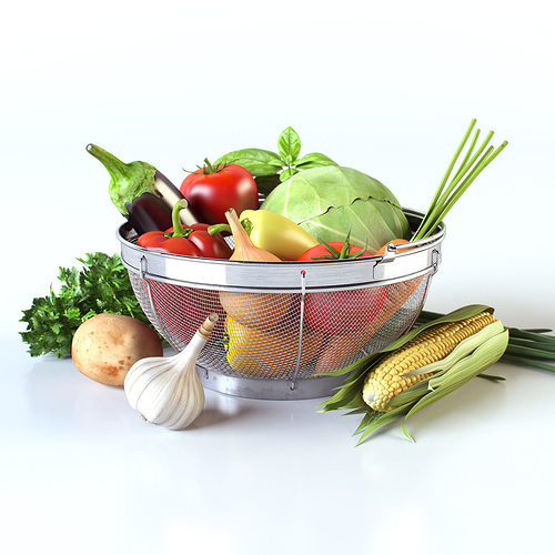 vegetables in the basket 3d model max obj mtl 3ds fbx unitypackage prefab mat 1