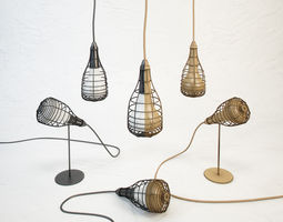 3D model DIESEL Cage Mic light by Foscarini