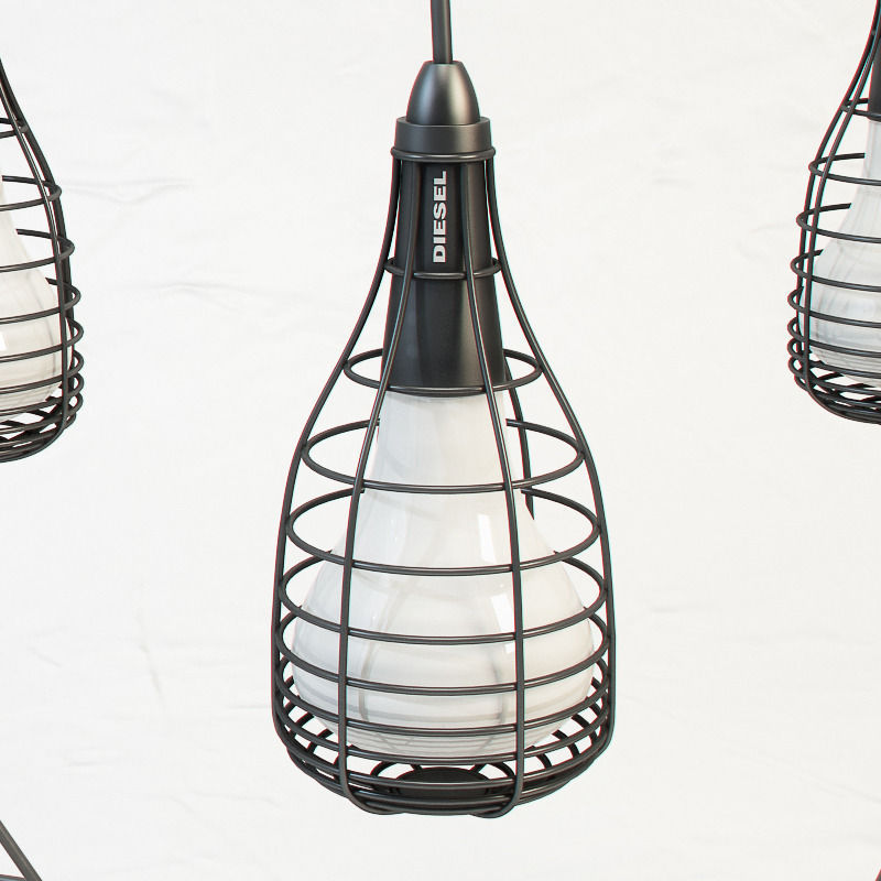 diesel cage mic light by foscarini free 3d model max obj fbx mtl