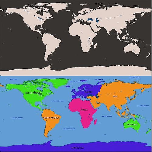 3D world map CGTrader