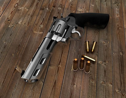 smith and wesson model 629 competitor 6 weighted barrel 3d