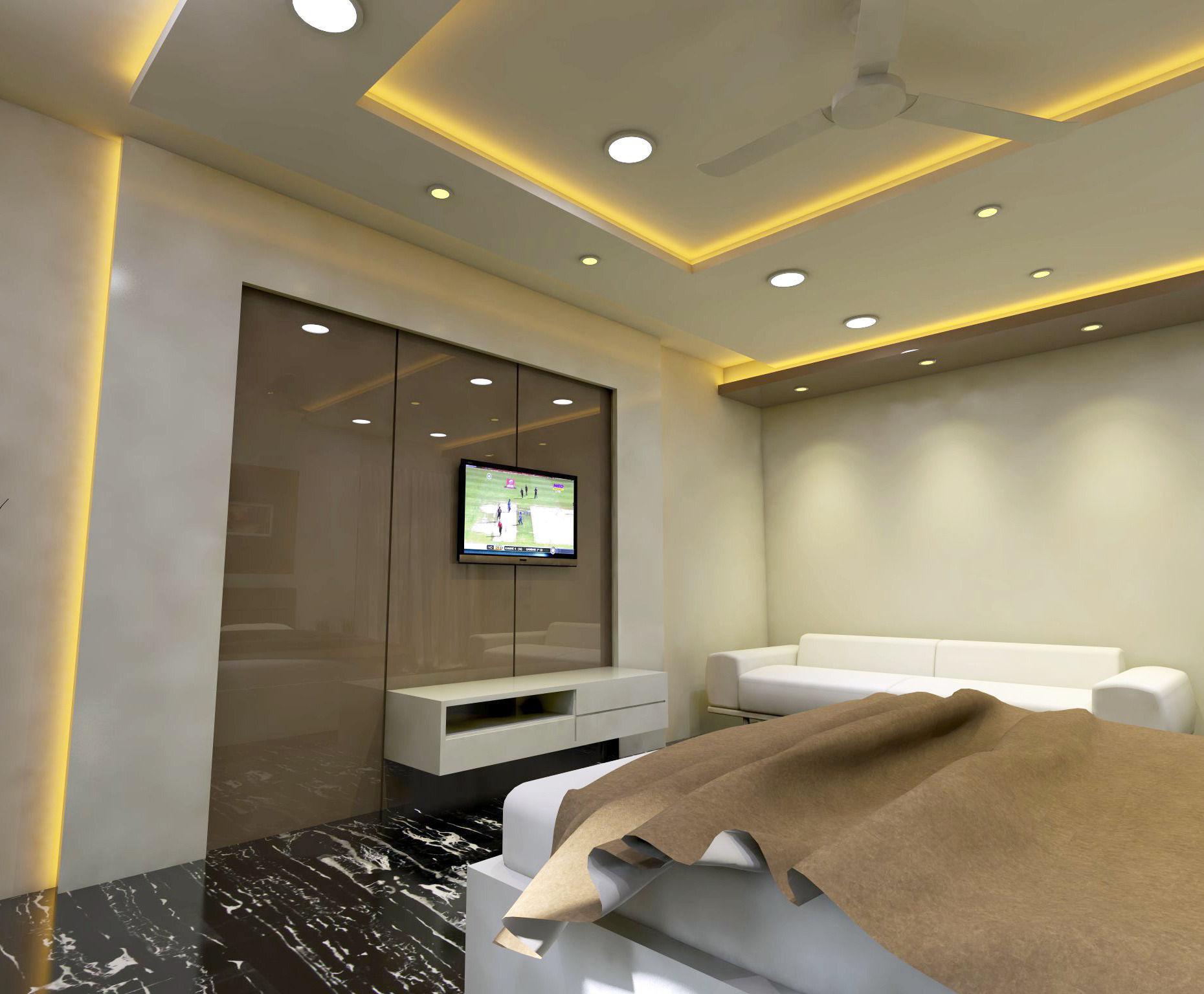 Modern Bedroom Interior Vray Rendered 3D model | CGTrader