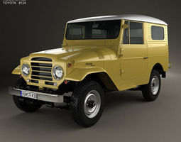 3D model Toyota Land Cruiser hardtop 1955