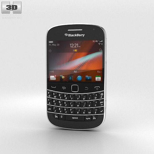 3d Blackberry Bold 9900 Black Cgtrader