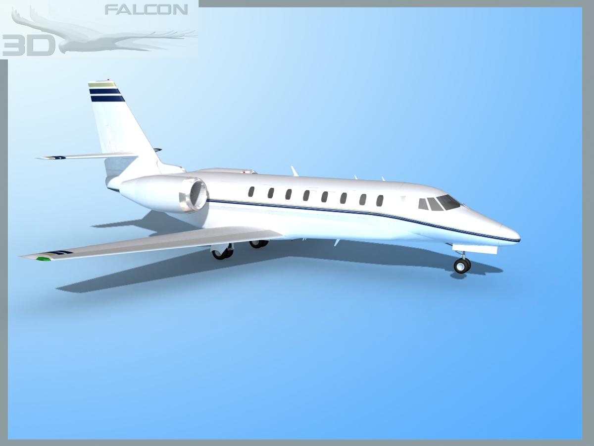 Falcon3d Citation Sovereign C680 Fs03 3d Model Max Obj 3ds Lwo Lw Lws