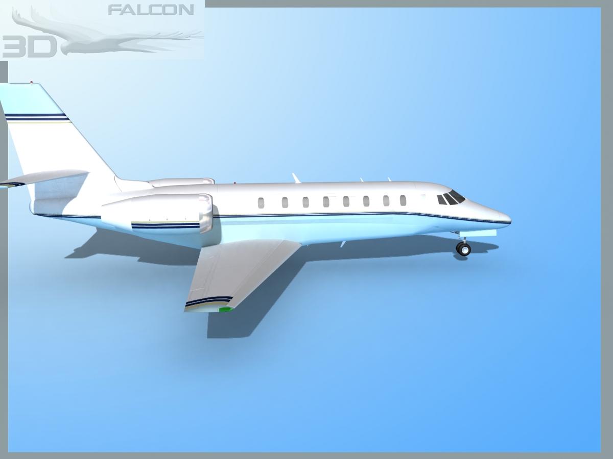 Falcon3d Citation Sovereign C680 Fs04 3d Model Max Obj 3ds Lwo Lw Lws