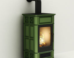 3d fireplace - oven tile