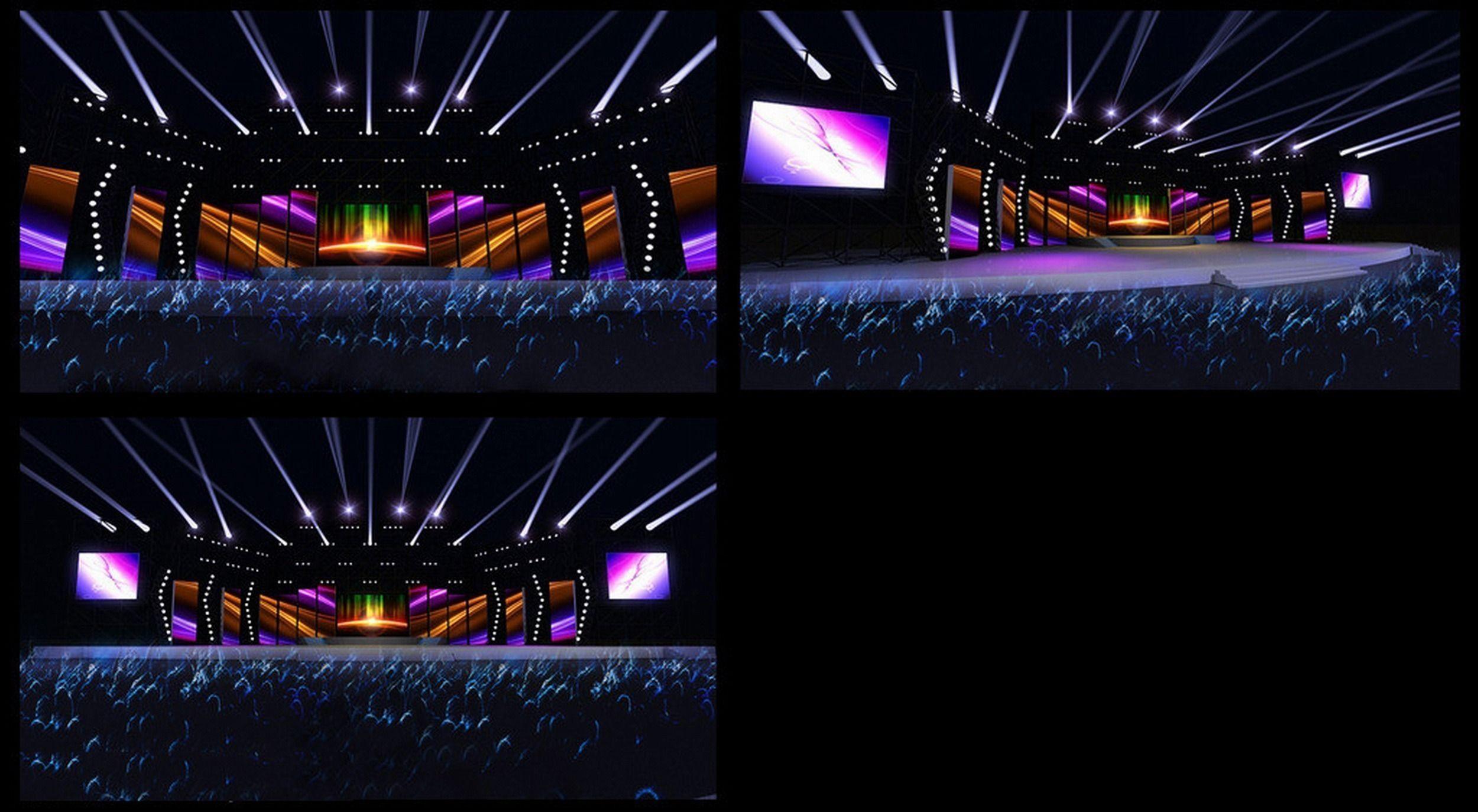 concert stage design 20 3d model max obj mtl cgtradercom