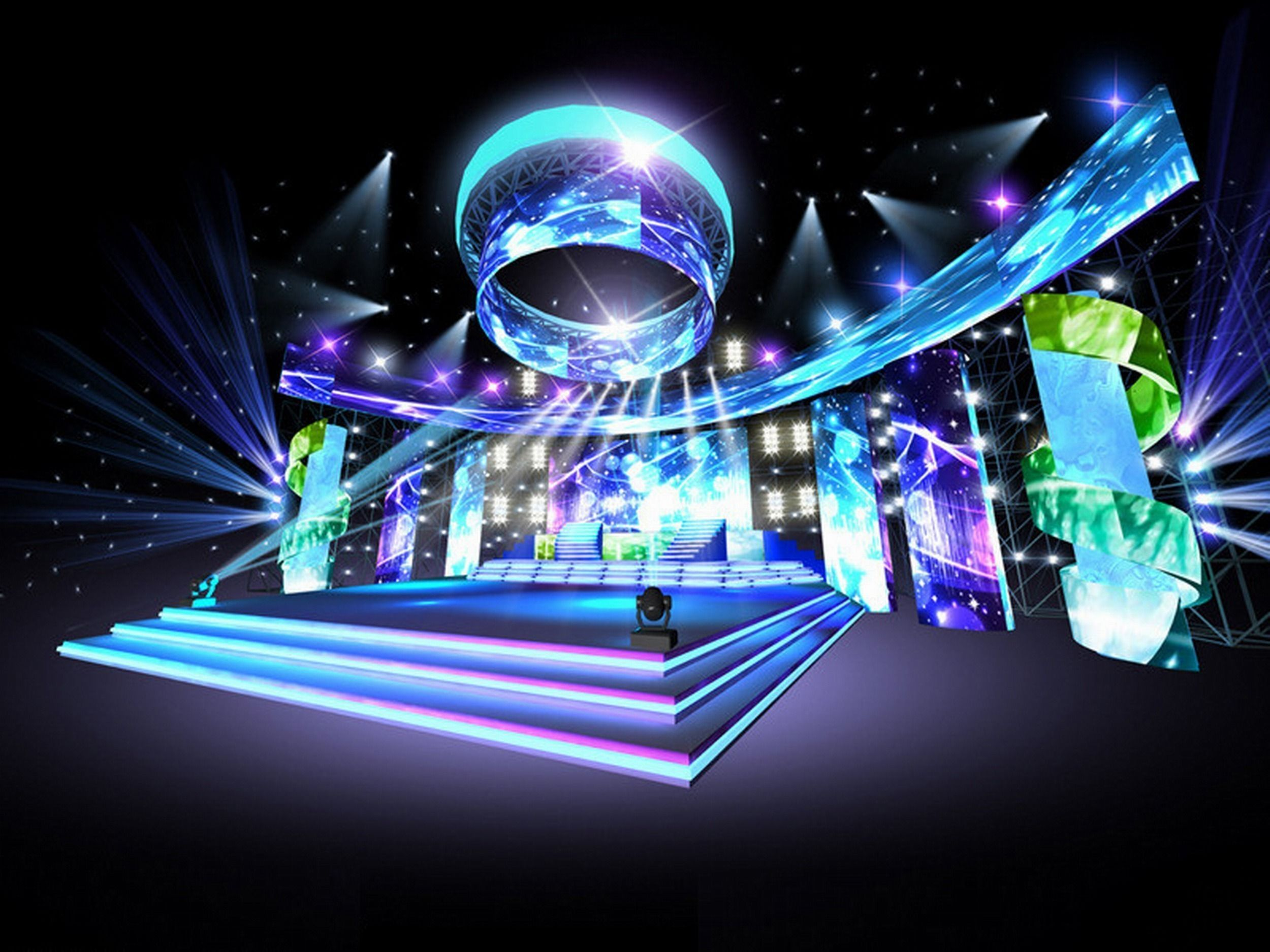 concert stage design 16 3d model max obj mtl