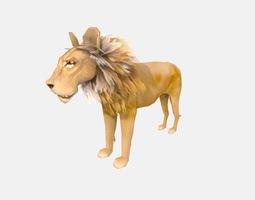 Lion low poly 3D model