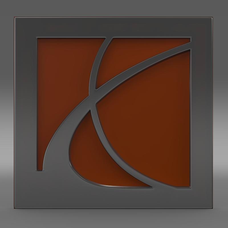 Saturn Logo 3d Model Cgtrader
