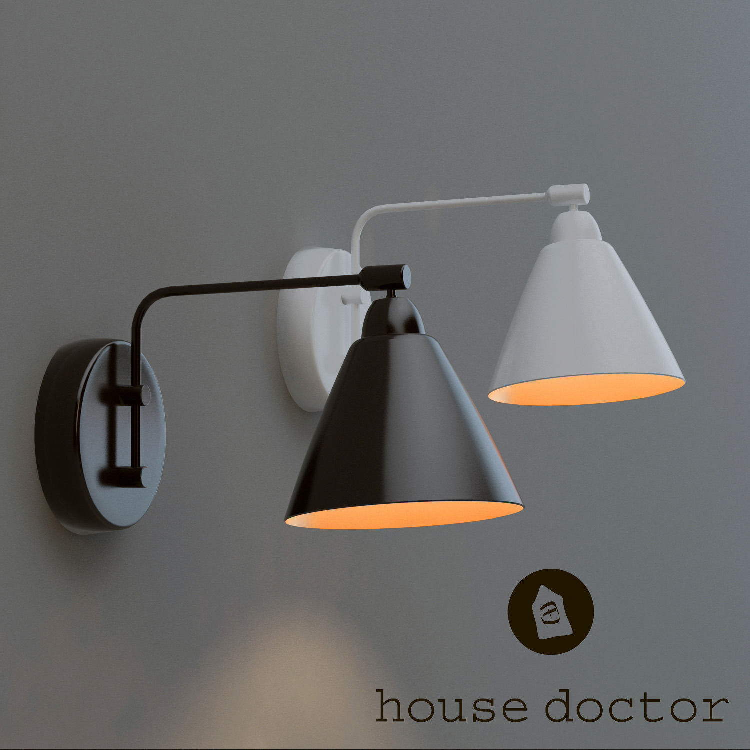 lamp house doctor 3d model max. Black Bedroom Furniture Sets. Home Design Ideas