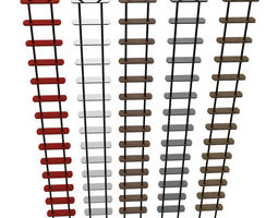 3d model rope ladder animated