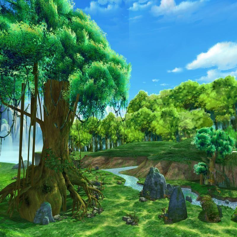 Cartoon River Scene 3d Model Max Tga Cgtrader Com