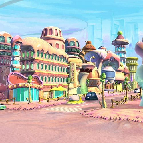 3D model Cartoon Street View | CGTrader