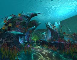 3D Cartoon Undersea Scene