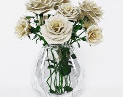 3d model bouquet of roses