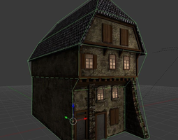 3D model Mediaeval house