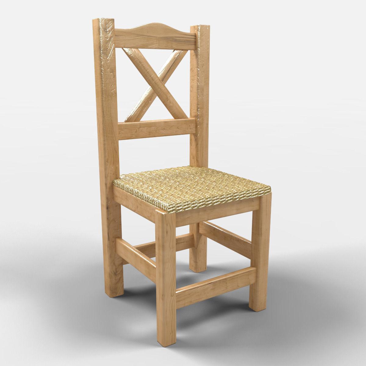Puebla Rustic Chair 3d Model Max 1 ...