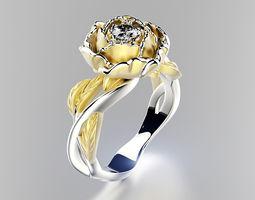 peony fashion ring 0004 3d print model