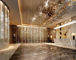 reception lobby 3D model Lobby