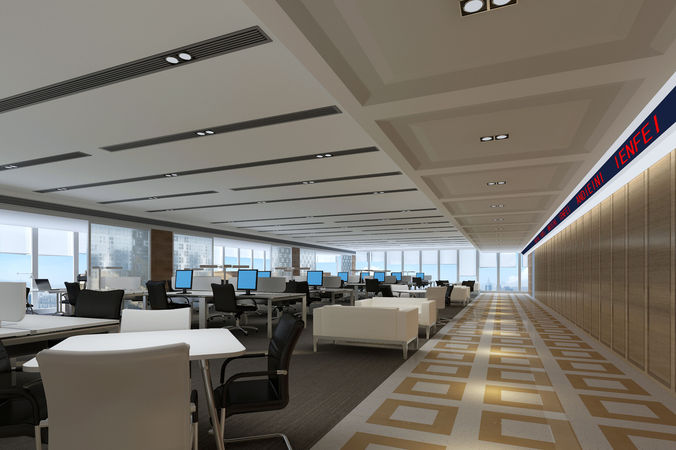 office 3d model max fbx 1
