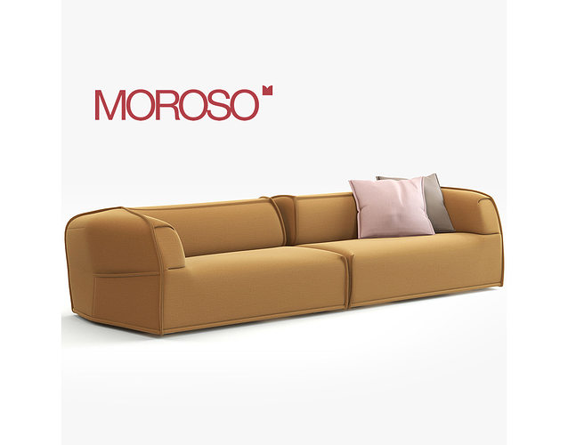 Massas Moroso Modern Sofa 3D Model MAX OBJ FBX MTL