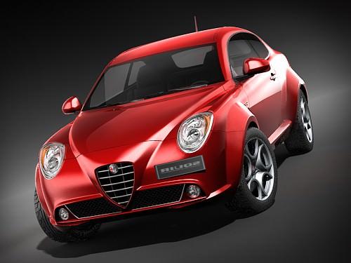 Alfa Romeo MiTo 2009 HiPoly