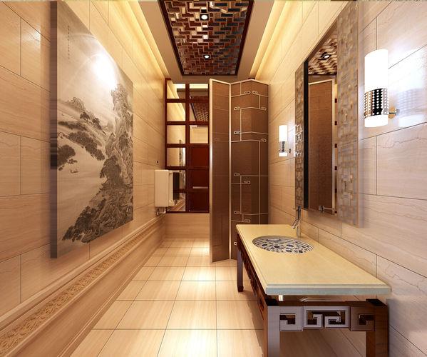 Interior design 3d stylish interior design cgtrader for Bathroom design 3d model