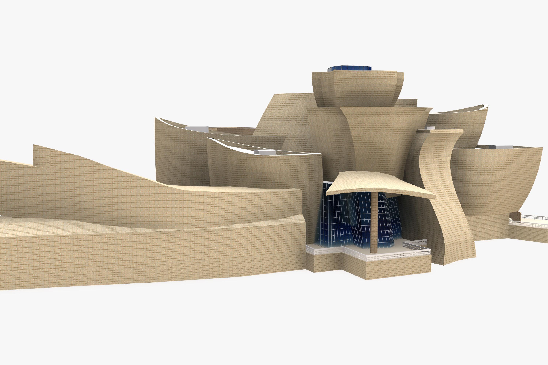 Guggenheim Museum Bilbao Floor Plan Guggenheim Museum Bilbao 3d Model Max Obj 3ds Fbx