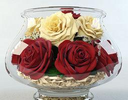 roses in the aquarium 3d model