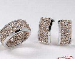 Jewelry Set Math 3D Model