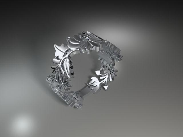 hungarian folk motiv ring 3d model 3d printable stl