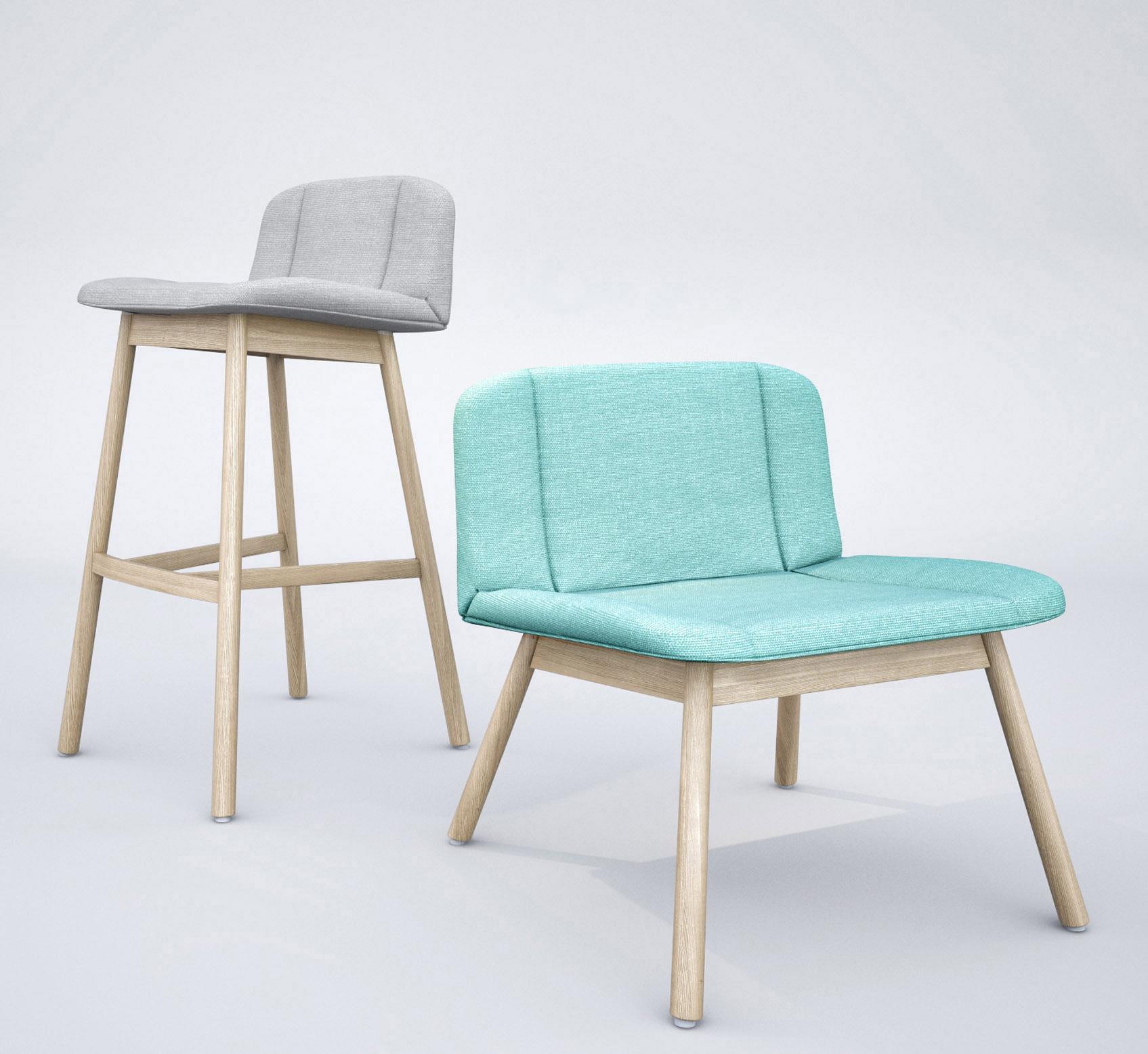 Billiani Hippy Lounge Chair And Bar Stool 3d Model Max Fbx 1