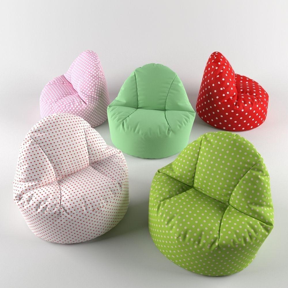 Excellent Bean Bag Chair Pouf 3D Model Pabps2019 Chair Design Images Pabps2019Com
