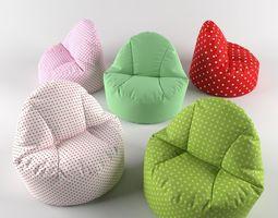 Bean bag chair pouf 3D