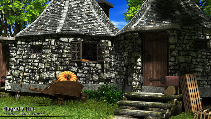 3d hagrid hut cgtrader What house was hagrid in