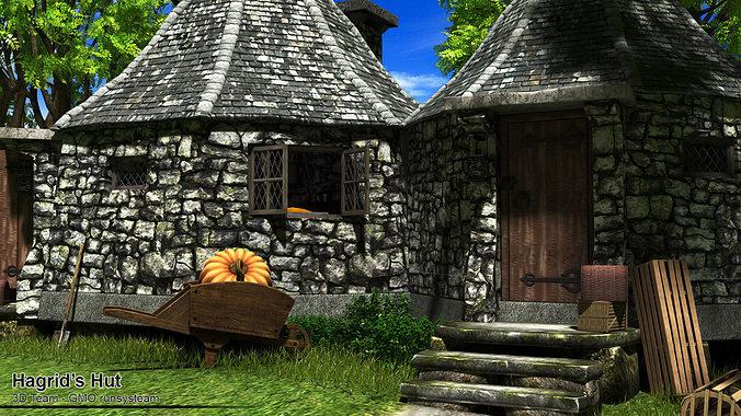 3d Hagrid Hut Cgtrader