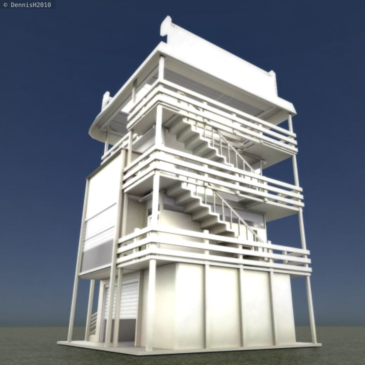 tower house design blender game engine 3d model low poly rigged animated obj - Designing A House Game