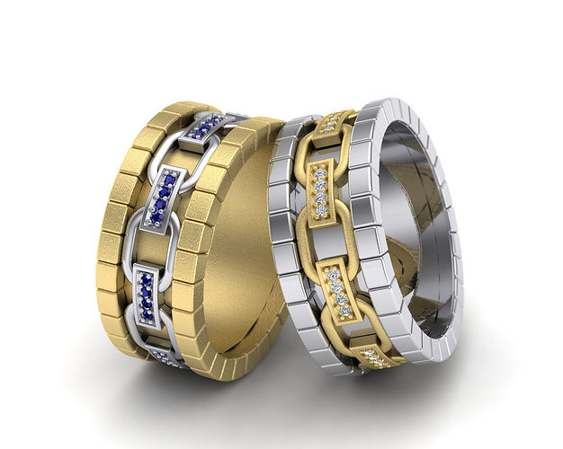 man fashion ring 3d model stl 3dm 1
