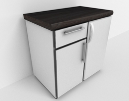 Freezer with cabinet component 3D model