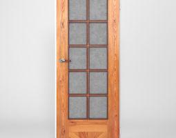3D model rigged Wooden Door
