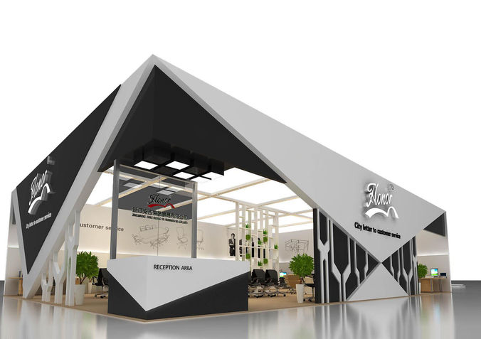 Exhibition Stand Vray : Exhibition area dmax d model max cgtrader