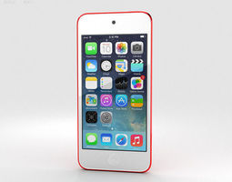 apple ipod touch red 3d